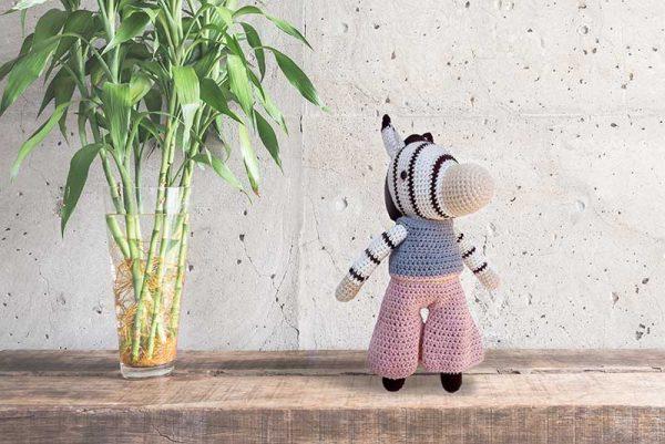 Cebra Tejida a Crochet